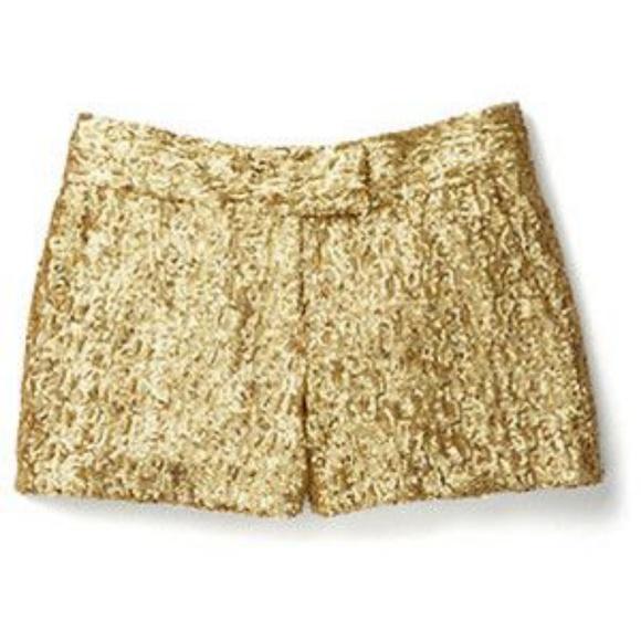 gold shorts womens